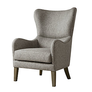 Madison Park Arianna Swoop Wing Chair, Gray, large