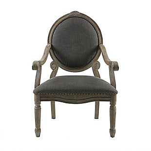 Madison Park Brentwood  Armchair, Gray, large