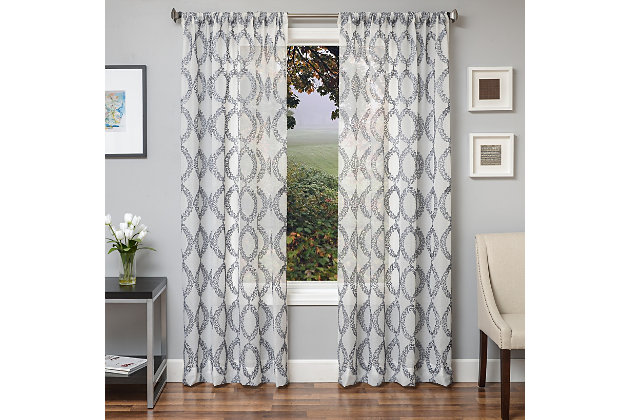 "Connor 96"" Sheer Panel Curtain, , large"