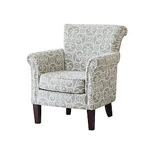 Madison Park Brooke Tight Back Club Chair, Gray, large