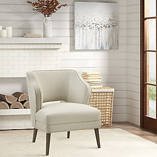 Madison Park Cody Open Back Accent Chair, Cream, rollover