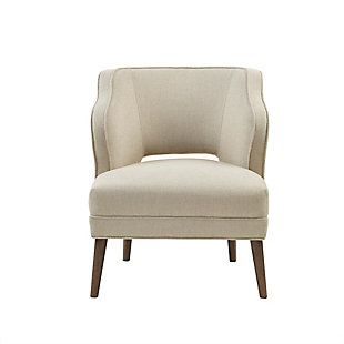 Madison Park Cody Open Back Accent Chair, Cream, large