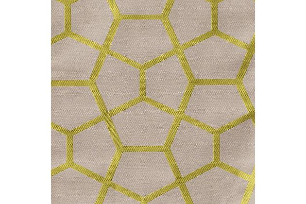 "Davos 84"" Jacquard Tile Panel Curtain, Apple Green, large"