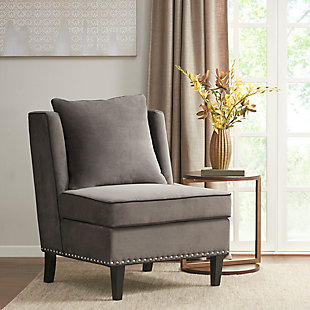 Madison Park Dexter Armless Shelter Chair, Gray, rollover