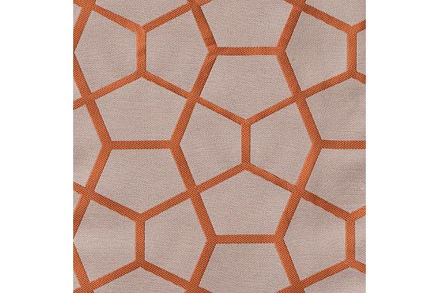 """Davos 96"""" Jacquard Tile Panel Curtain, , large"""
