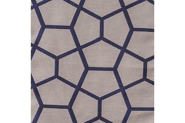 "Davos 84"" Jacquard Tile Panel Curtain, Sapphire Blue, large"