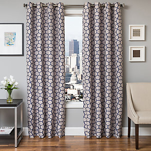 "Davos 96"" Jacquard Tile Panel Curtain, , large"