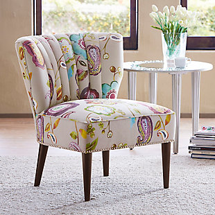 Madison Park Korey Channel Back Slipper Chair, , rollover