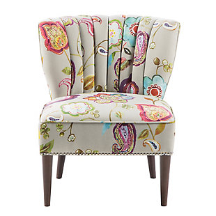 Madison Park Korey Channel Back Slipper Chair, , large