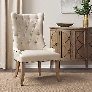 Madison Park Lucas Captain Accent Chair, Cream, rollover