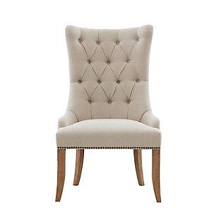 Madison Park Lucas Captain Accent Chair, Cream, large