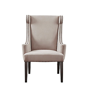 Madison Park Marcel Wing Chair, Taupe, large