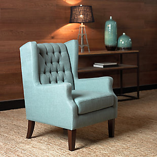 Madison Park Maxwell Wing Chair, Blue, rollover