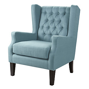 Madison Park Maxwell Wing Chair, Blue, large