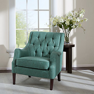 Madison Park Qwen Accent Chair, Teal, rollover