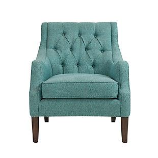 Madison Park Qwen Accent Chair, Teal, large
