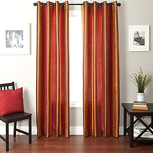 "Fantasia 96"" Jacquard Ikat Panel Curtain, , rollover"