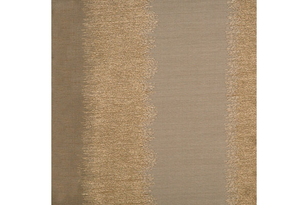 "Fantasia 84"" Jacquard Ikat Panel Curtain, Latte Gold, large"