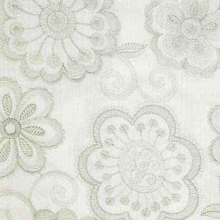 """Elaine 96"""" Floral Panel Curtain, Celadon, large"""