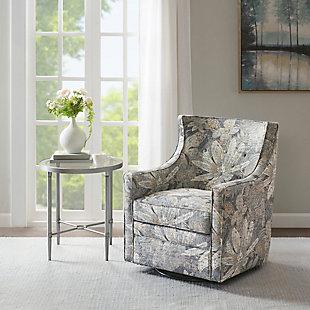 Madison Park Alana Curve Back Swivel Glider Chair, , rollover