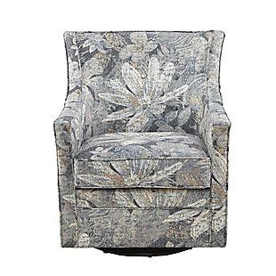 Madison Park Alana Curve Back Swivel Glider Chair, , large