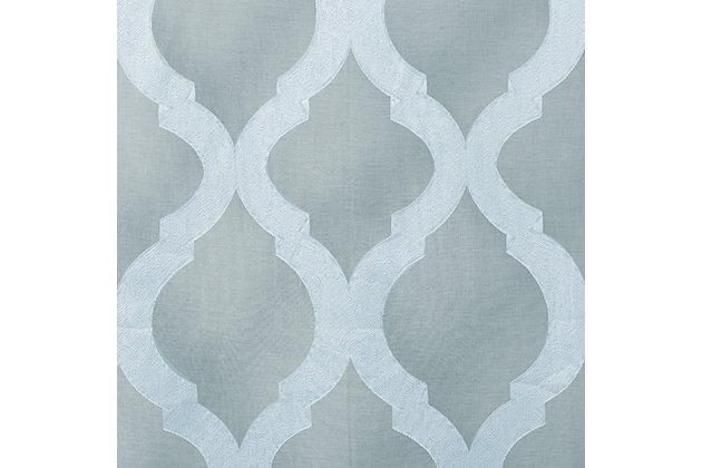 """Erika 96"""" Sheer Jacquard Panel Curtain, , large"""