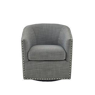 Madison Park Tyler Swivel Chair, Gray, large