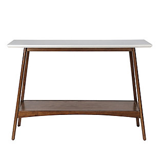 Madison Park Parker Console Table, Off White/Pecan, large