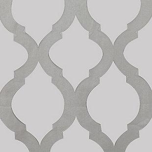 "Erika 84"" Sheer Jacquard Panel Curtain, Gray, large"
