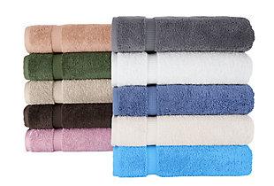 Villa Collection Turkish Cotton Bath Towels Set of 4, Blue, rollover
