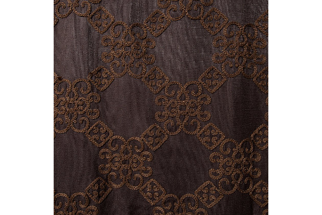 "Liam 96"" Embroidered Panel Curtain, , large"