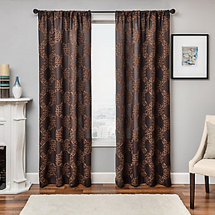 "Liam 96"" Embroidered Panel Curtain, , rollover"
