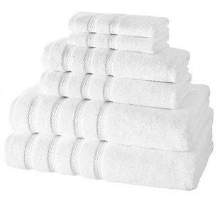 Antalya Collection Turkish Cotton Towels Set of 6, White, large
