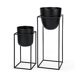 Mercana Black Plant Stands (Set of 2), , large