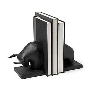 Mercana III Black Cast Iron Raging Bull Bookends (Set of 2), , rollover