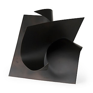 Mercana Black Metal Sculptural Decorative Object, , large
