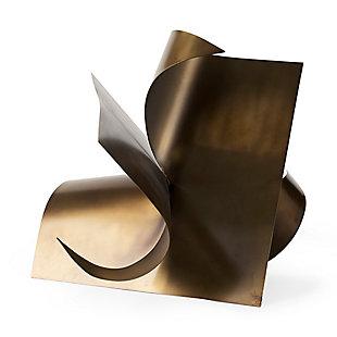 Mercana Antique Gold Metal Sculptural Decorative Object, , rollover