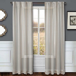 "Eleganz 96"" Metallic Sheer Panel Curtain, , rollover"