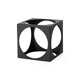 Mercana Matte Black Metal Small Square Decorative Object, , large