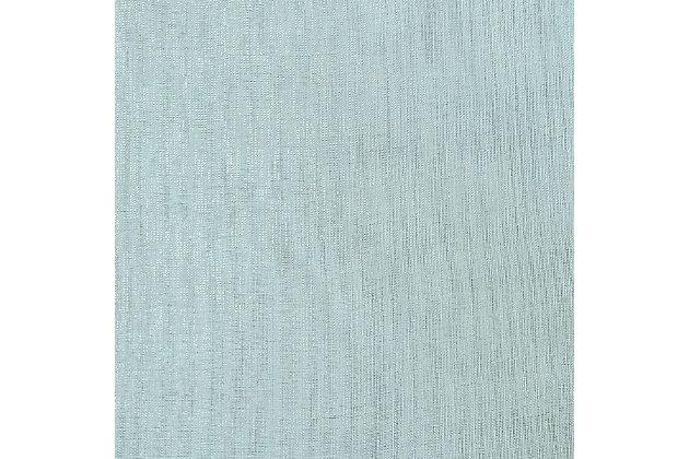 """Eleganz 84"""" Metallic Sheer Panel Curtain, Spa, large"""