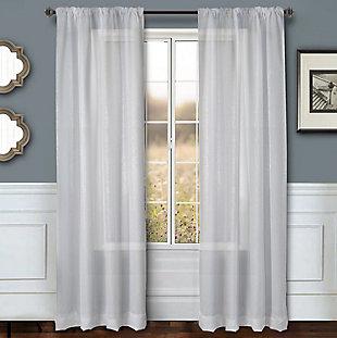 """Eleganz 96"""" Metallic Sheer Panel Curtain, , large"""