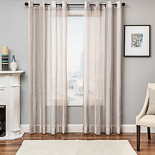 """Harbor 84"""" Sheer Panel Curtain, Champagne, large"""