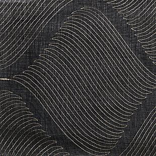 "Marlene 84"" Embroidered Panel Curtain, Black, large"