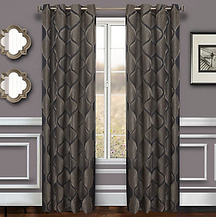 "Marlene 96"" Embroidered Panel Curtain, , rollover"