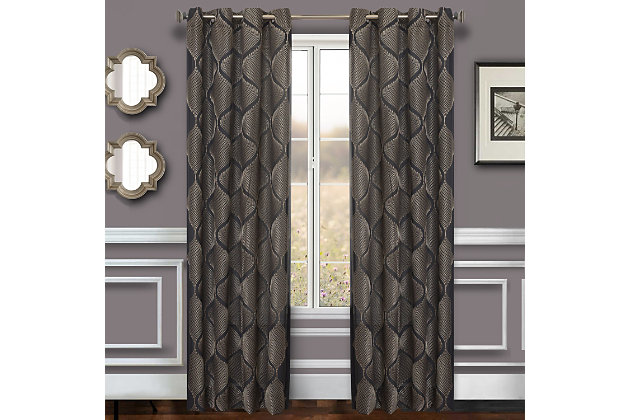 """Marlene 96"""" Embroidered Panel Curtain, , large"""
