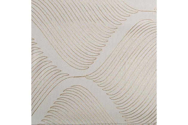 "Marlene 84"" Embroidered Panel Curtain, Sand, large"