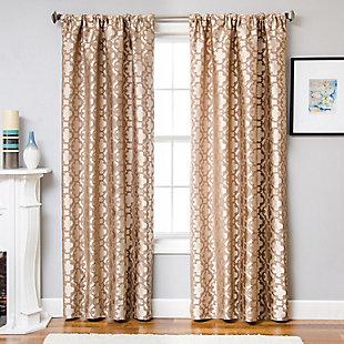 """Peyton 96"""" Jacquard Tile Panel Curtain, , large"""