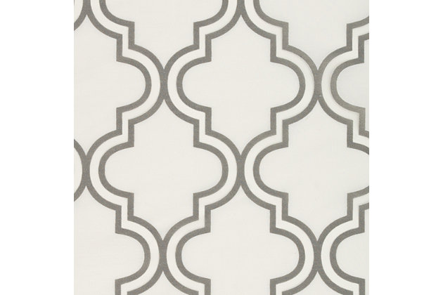 "Presidio 84"" Sheer Panel Curtain, Silver White, large"
