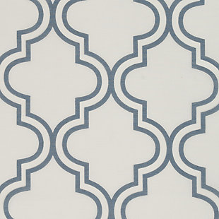 "Presidio 84"" Sheer Panel Curtain, Blue White, large"