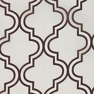 "Presidio 84"" Sheer Panel Curtain, Chocolate White, large"